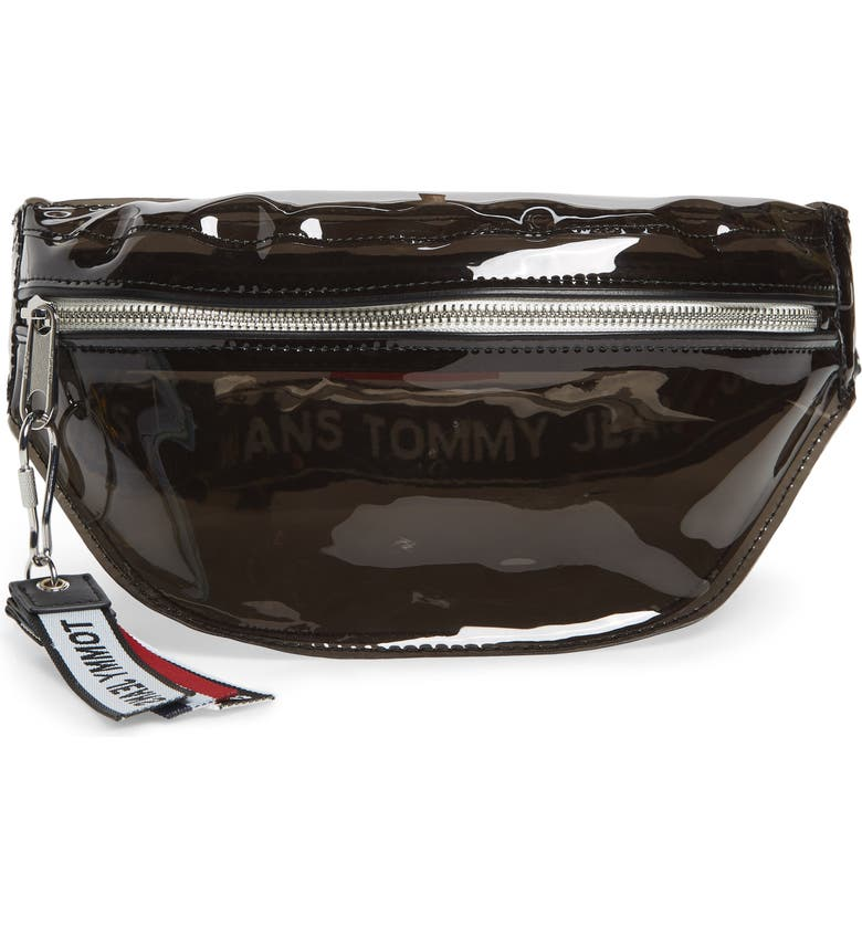 TOMMY JEANS Logo Belt Bag, Main, color, 001
