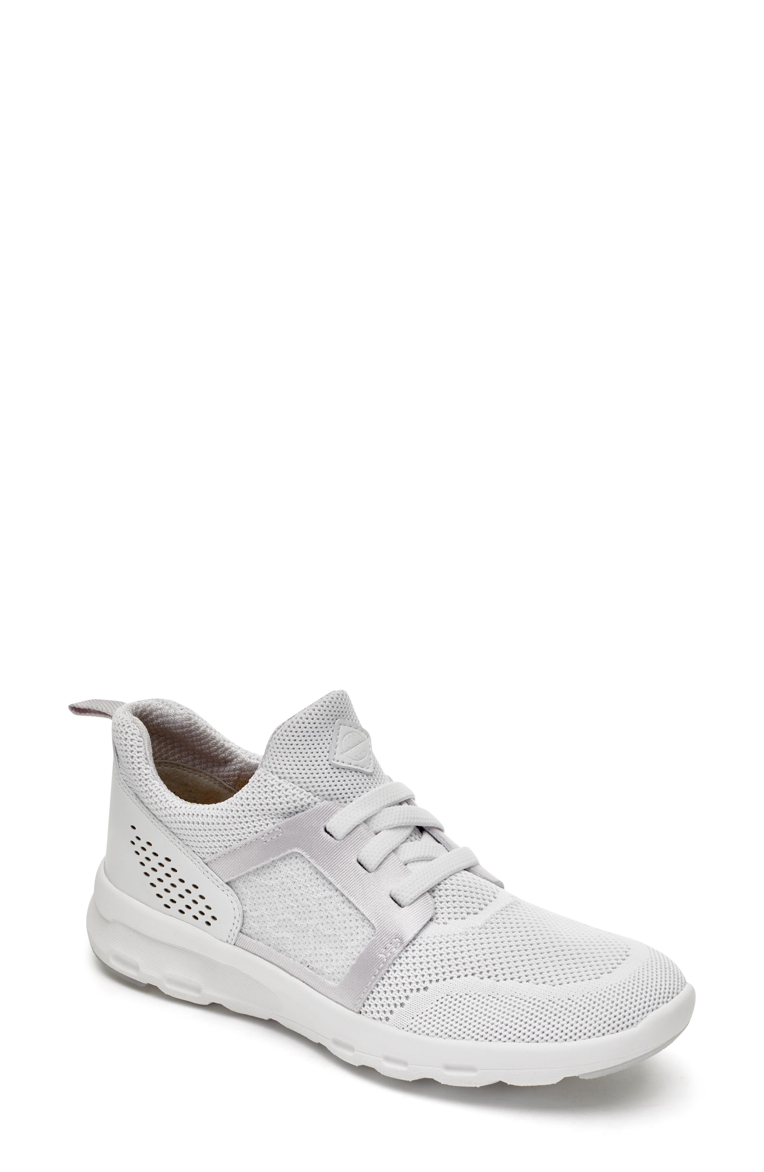 Rockport Knit Walking Sneaker, White