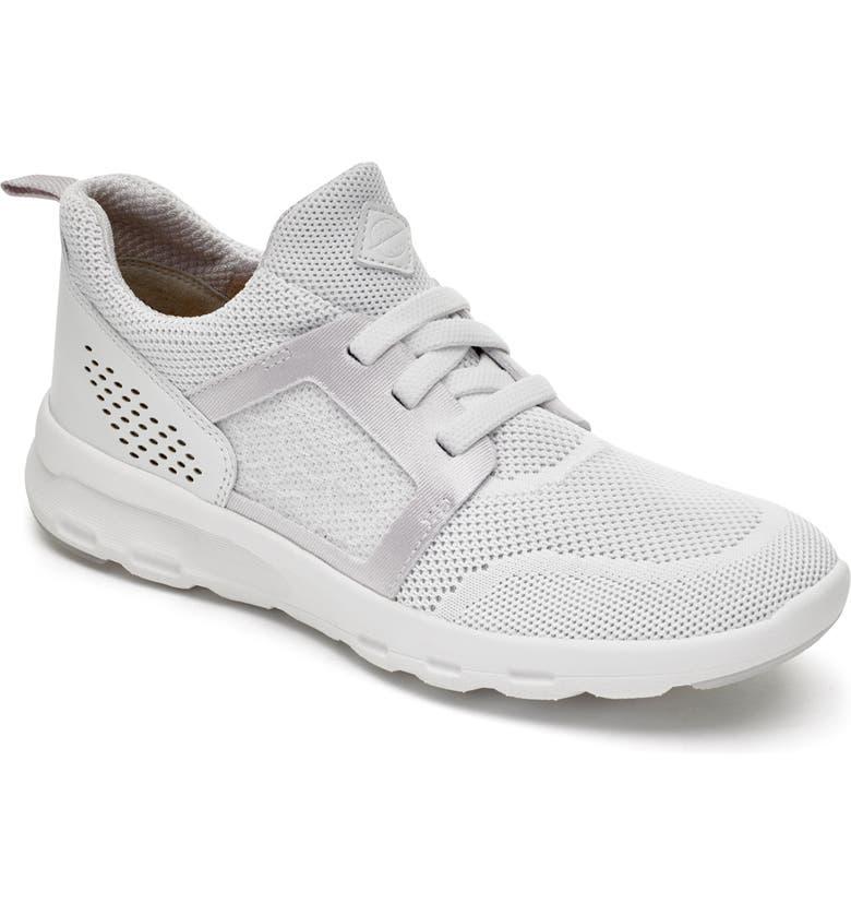 ROCKPORT Knit Walking Sneaker, Main, color, WHITE