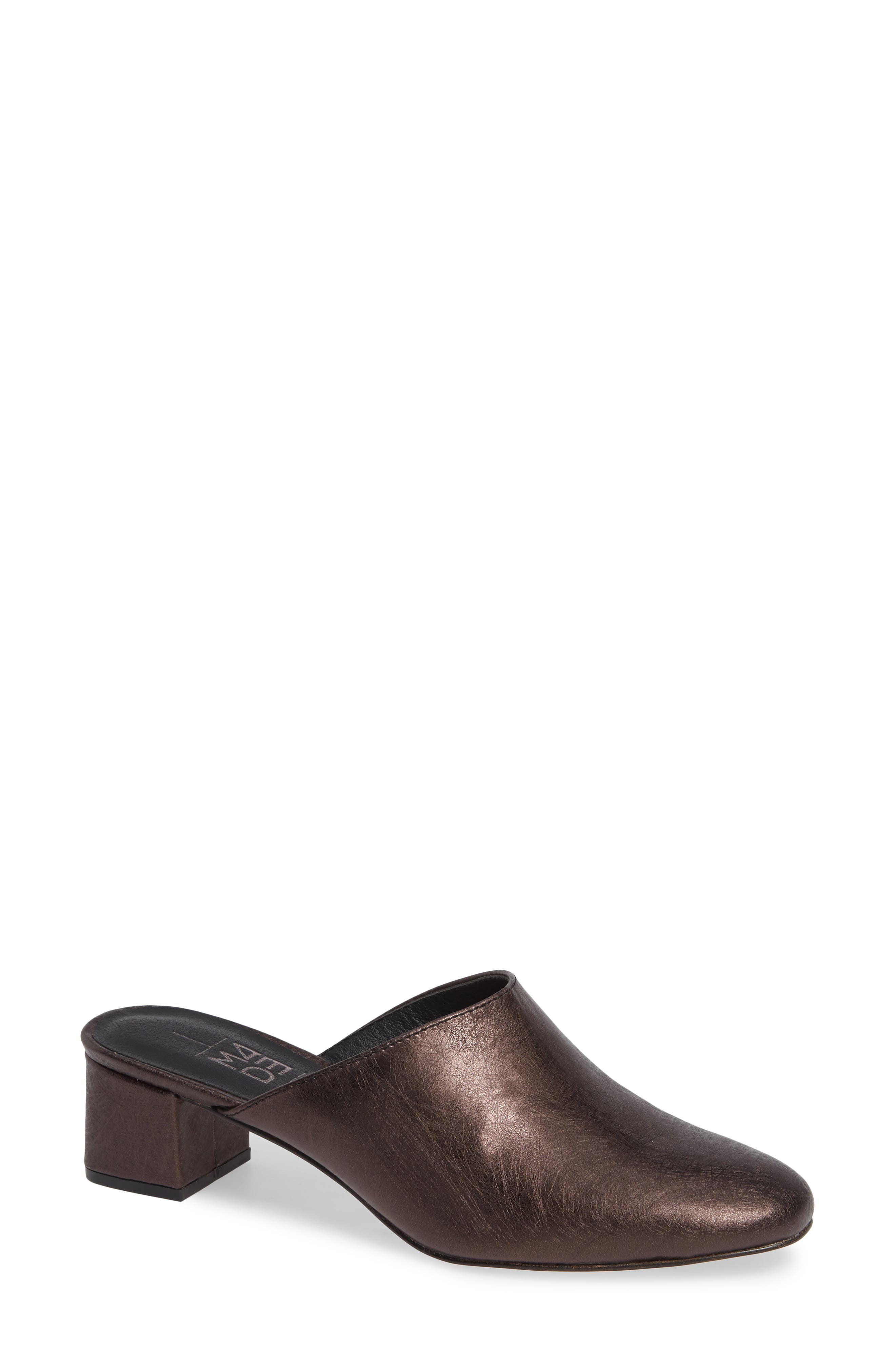 M4D3 Maddox Block Heel Mule- Black