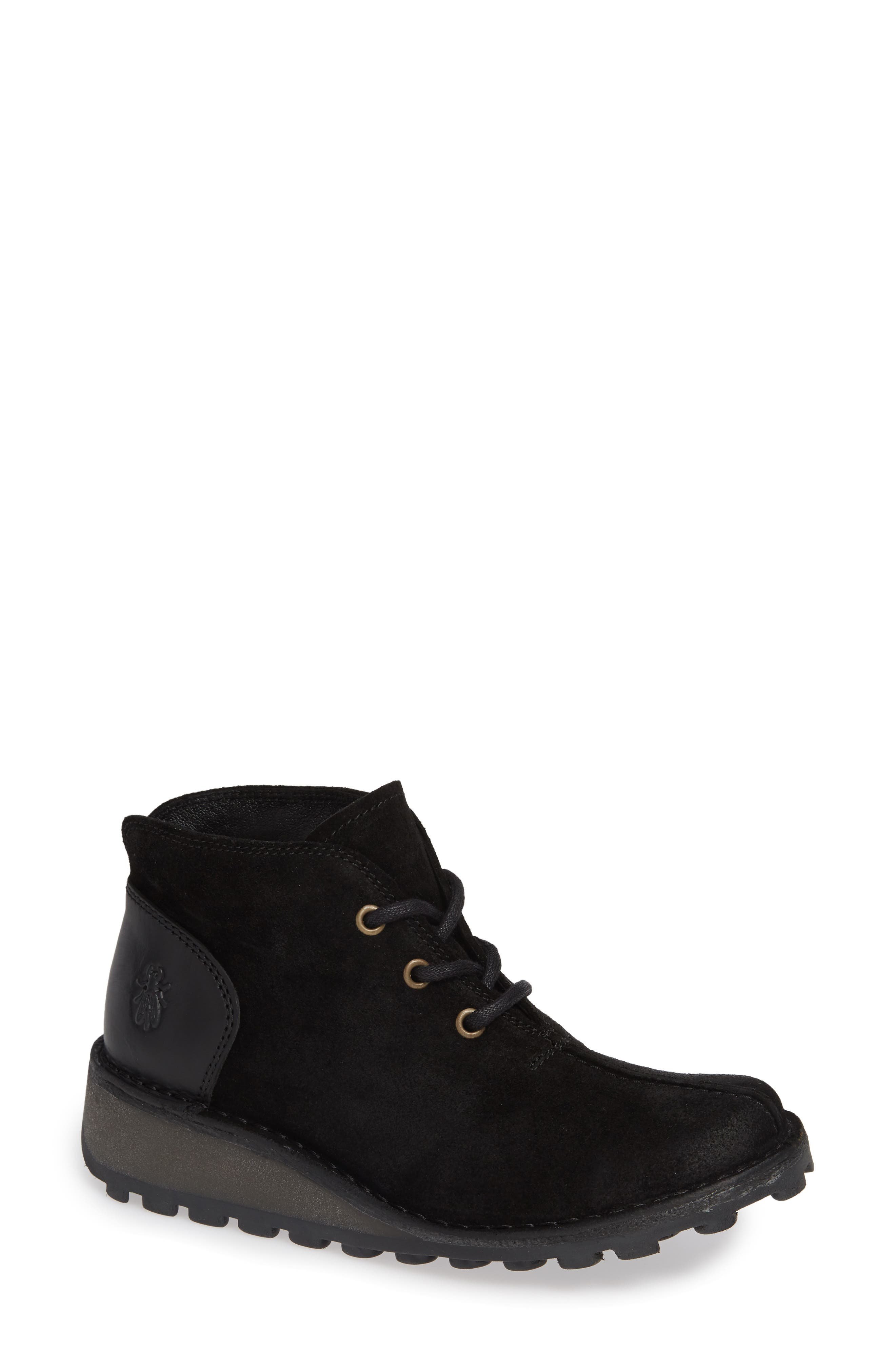 Fly London Mili Wedge Bootie - Black