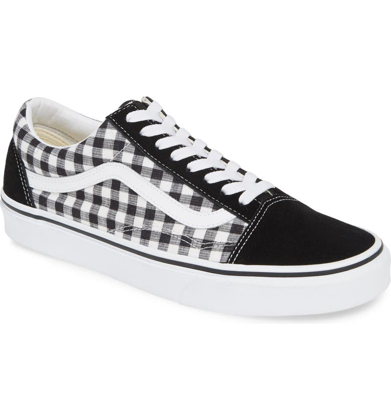 VANS Old Skool Sneaker, Main, color, BLACK/ TRUE WHITE LEATHER