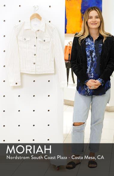 Le Vintage Stripe Crop Denim Jacket, sales video thumbnail