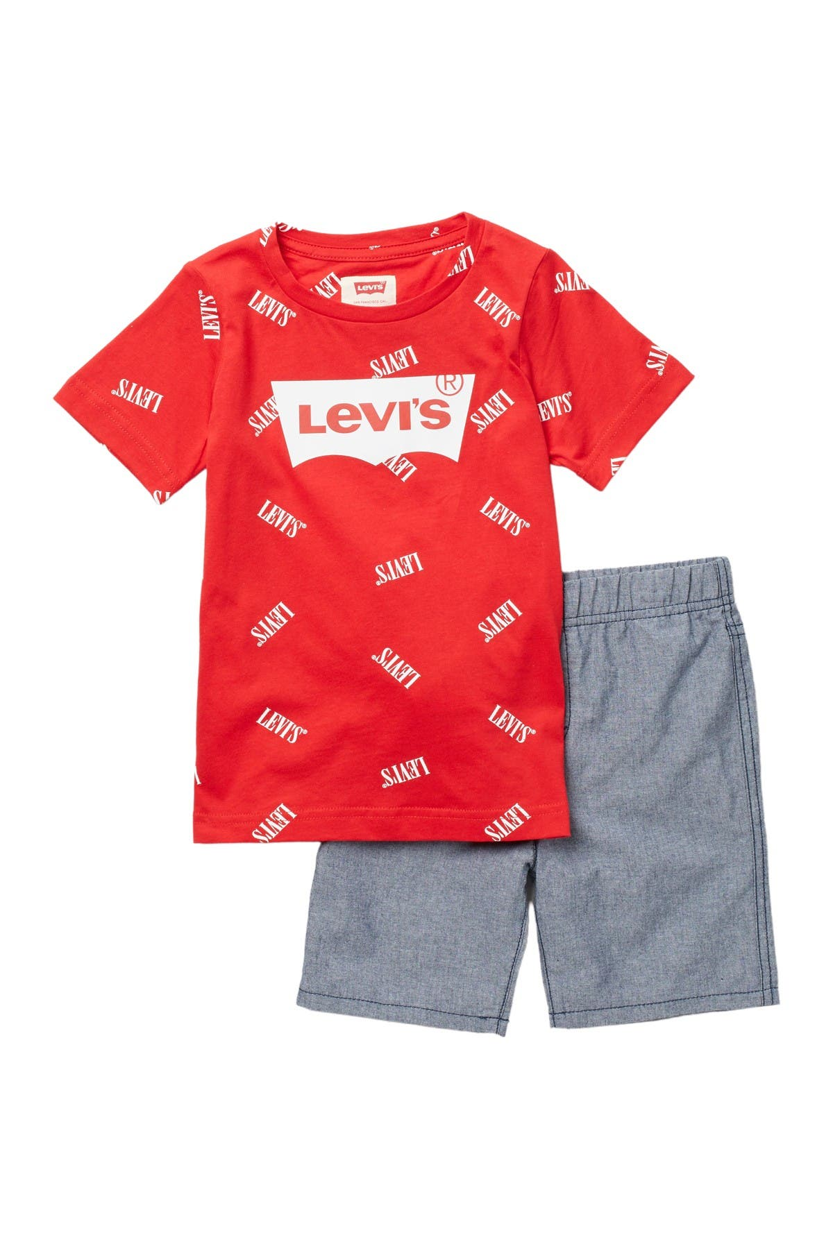 Image of Levi's Inside Out Tee & Shorts Set