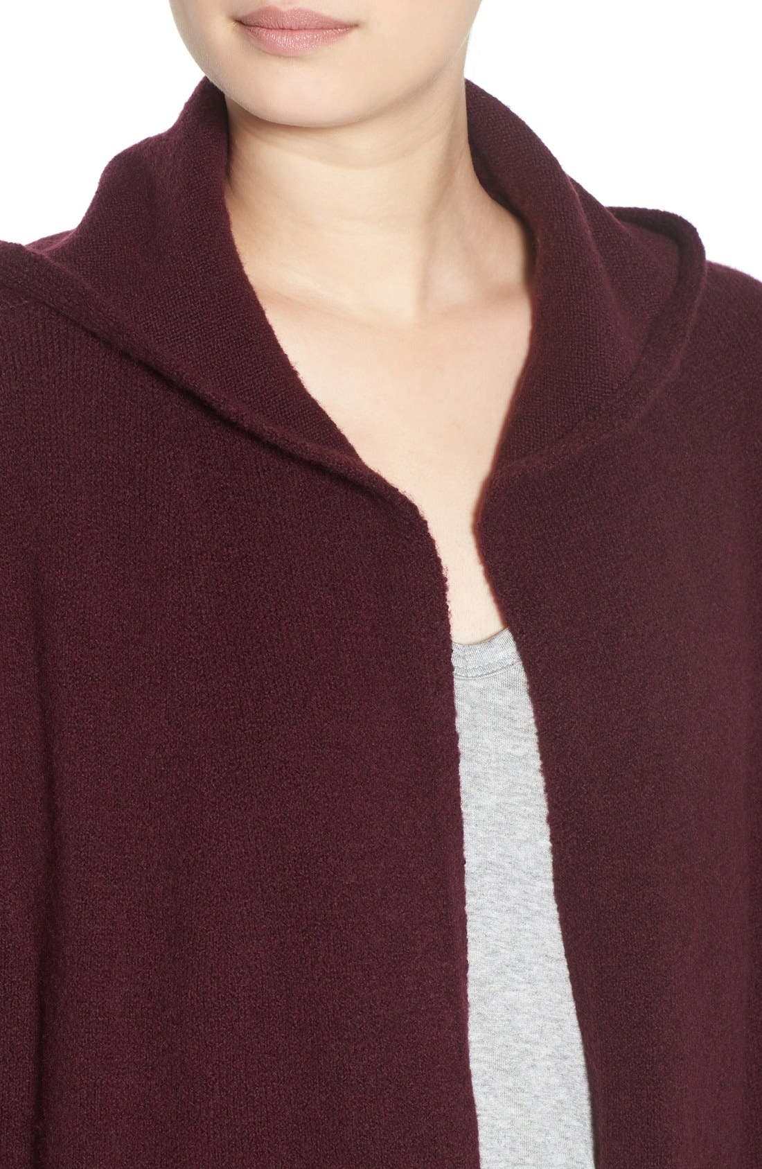 ,                             Hooded Longline Cardigan,                             Alternate thumbnail 14, color,                             930
