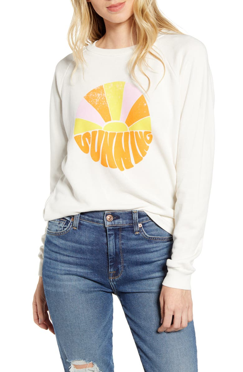 WILDFOX Fiona Sunning Pullover, Main, color, VINTAGE LACE