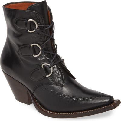 Coach Lace-Up Western Bootie- Black