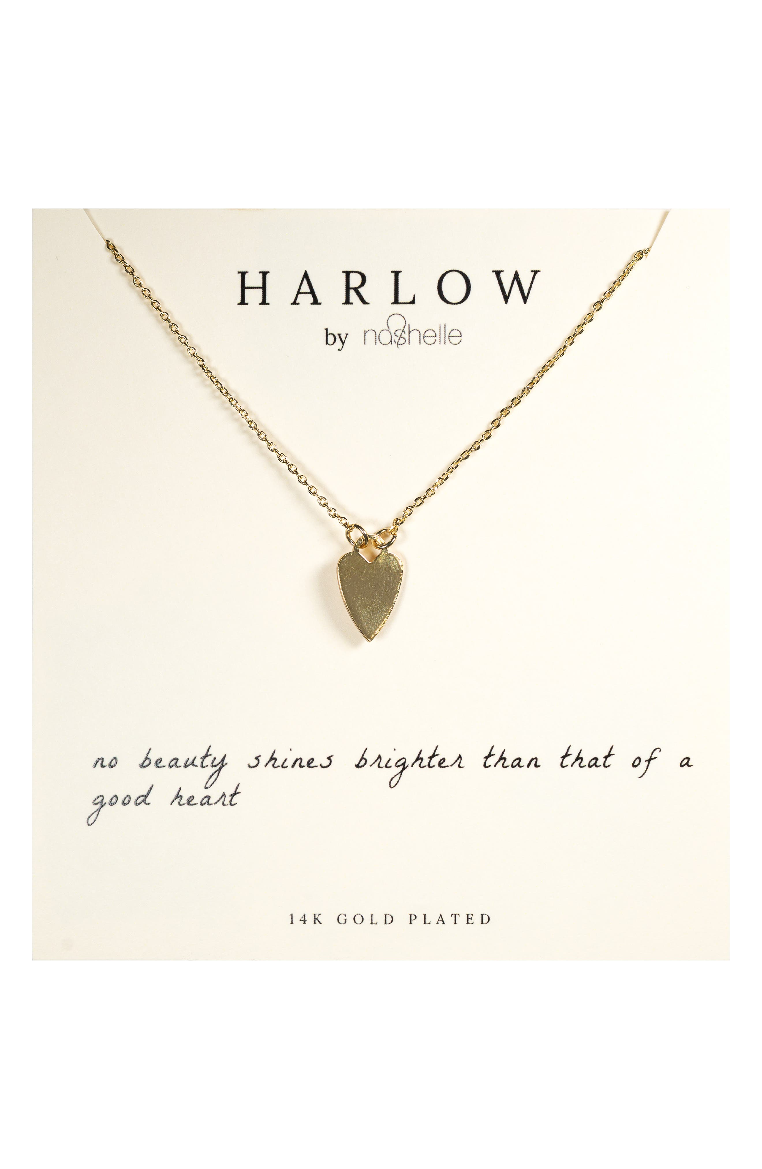 Designed in Bend, Oregon, this everyday heart necklace is boxed for easy gifting and comes on a card with a lovely sentiment. Style Name: Harlow By Nashelle Heart Boxed Necklace. Style Number: 5994354. Available in stores.
