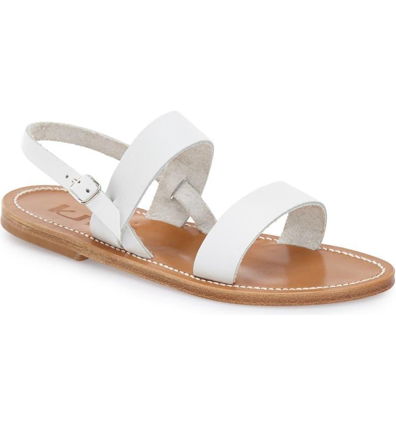 K.JACQUES ST. TROPEZ K Jacques St. Tropez Flat 'Barigoule' Vachetta Leather Sandal, Main, color, 101