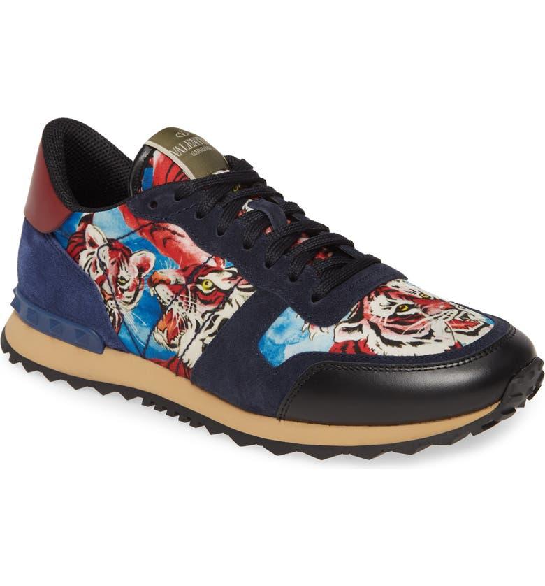 VALENTINO GARAVANI Tiger Rockrunner Sneaker, Main, color, TIGER