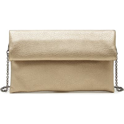 Sole Society Yotam Metallic Faux Leather Clutch - Metallic