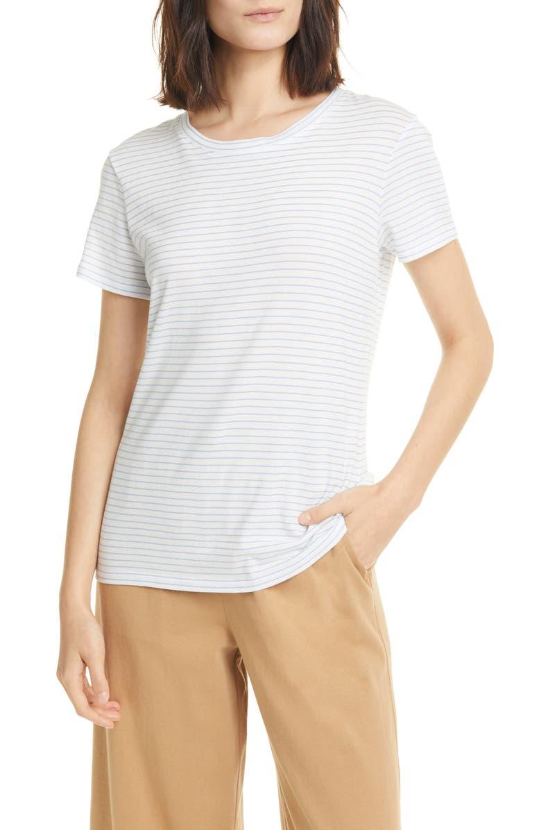 VINCE Pencil Stripe Cotton T-Shirt, Main, color, 112