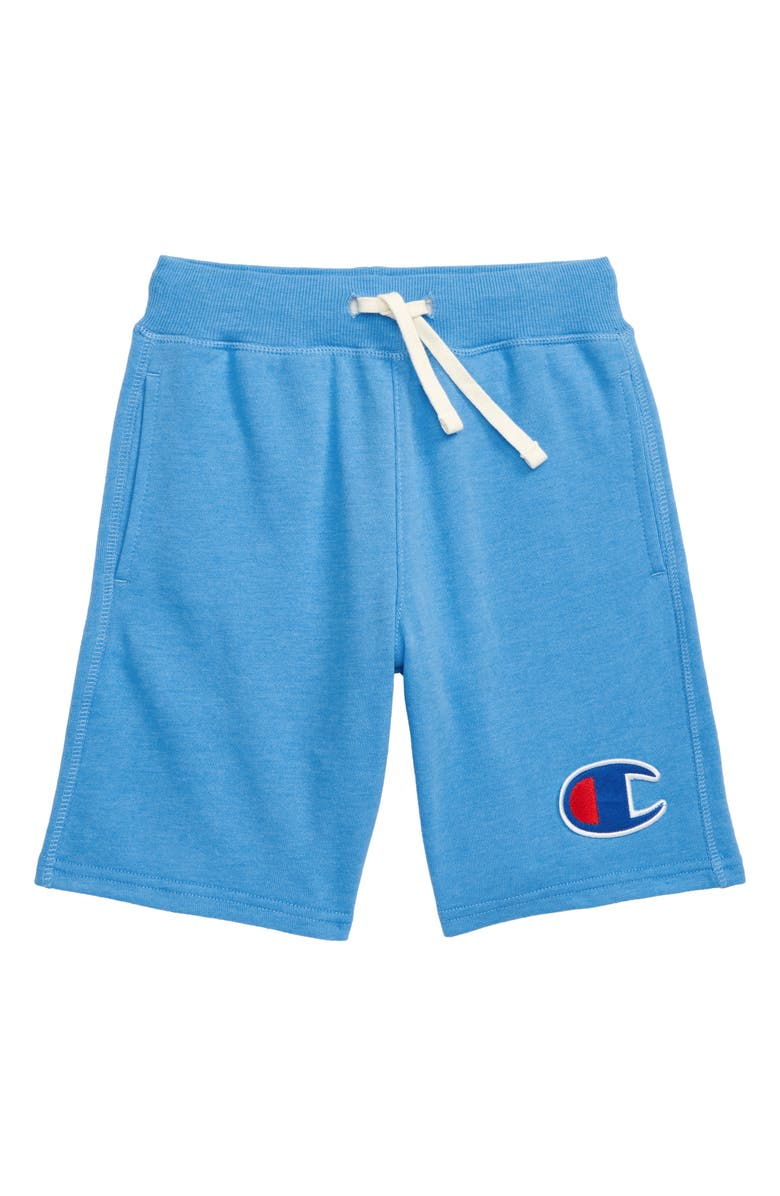 CHAMPION Heritage French Terry Athletic Shorts, Main, color, ACTIVE BLUE