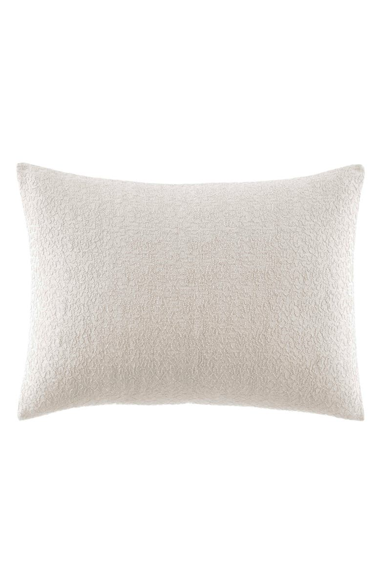 VERA WANG Verge Abstract Accent Pillow, Main, color, WHITE