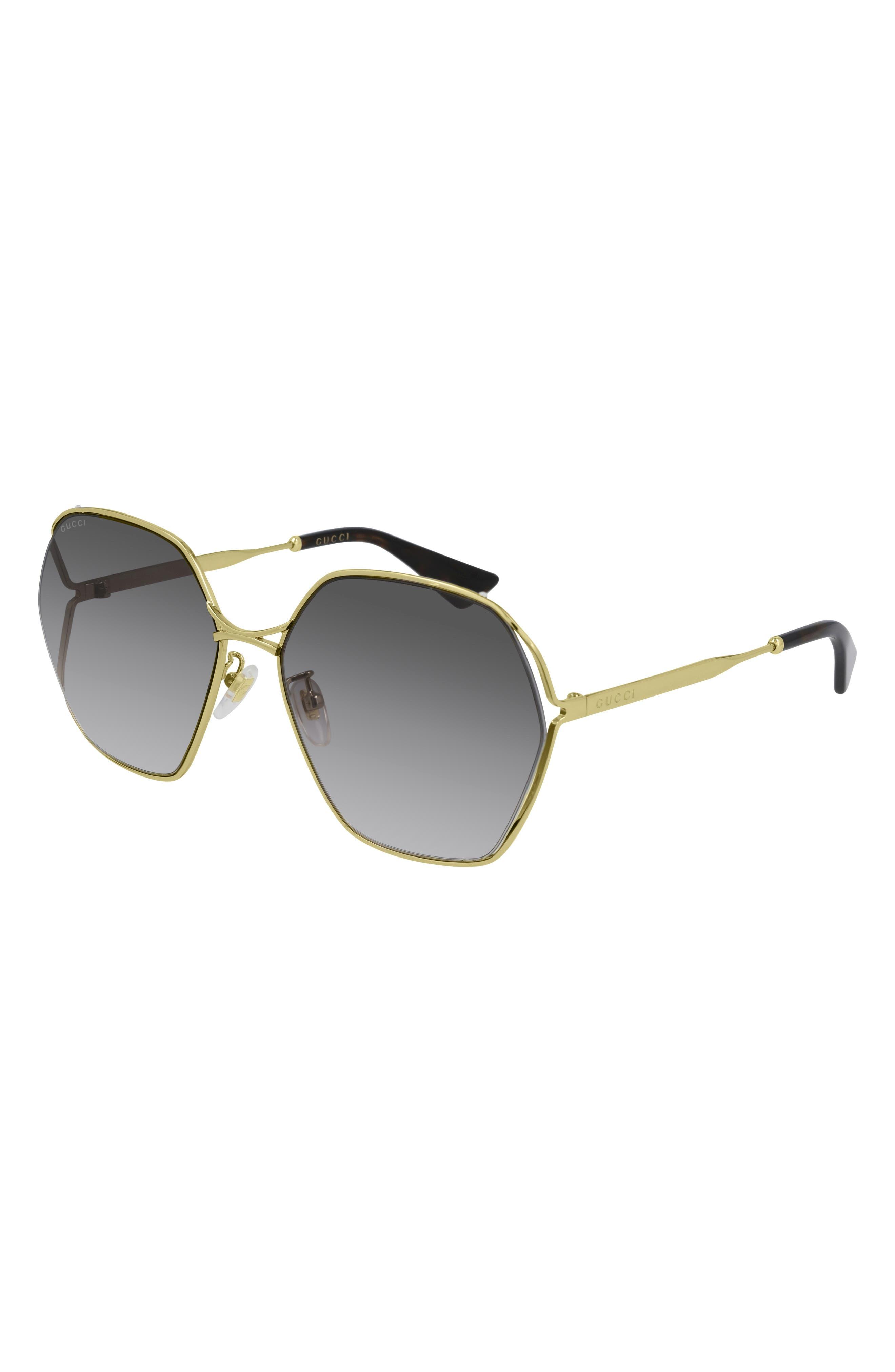 Gucci GG0138S 002 Gold Aviator Sunglasses   Gold aviator