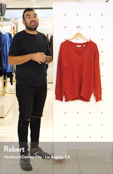 Cable Merino Wool & Cashmere Blend Sweater, sales video thumbnail