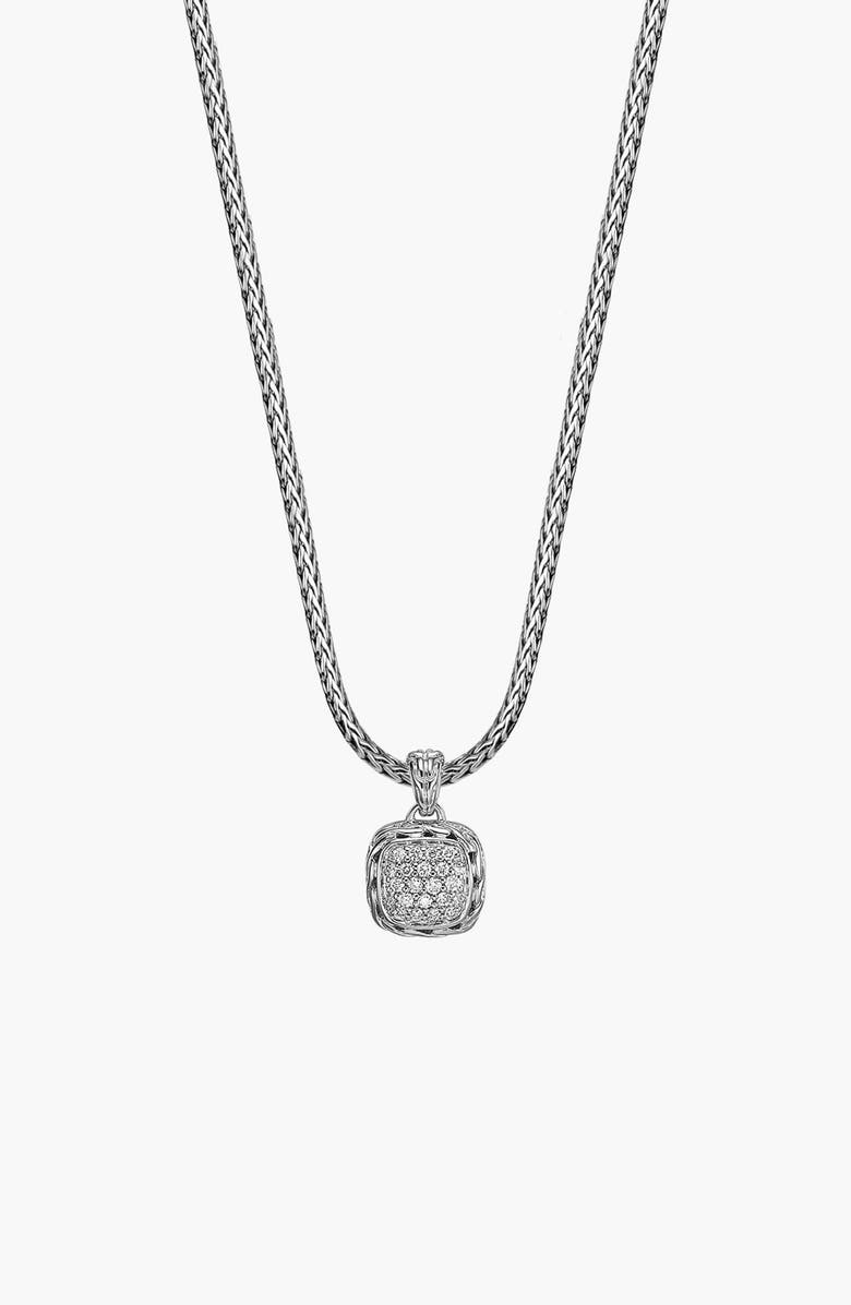 John Hardy Classic Chain Pav Diamond Pendant Necklace