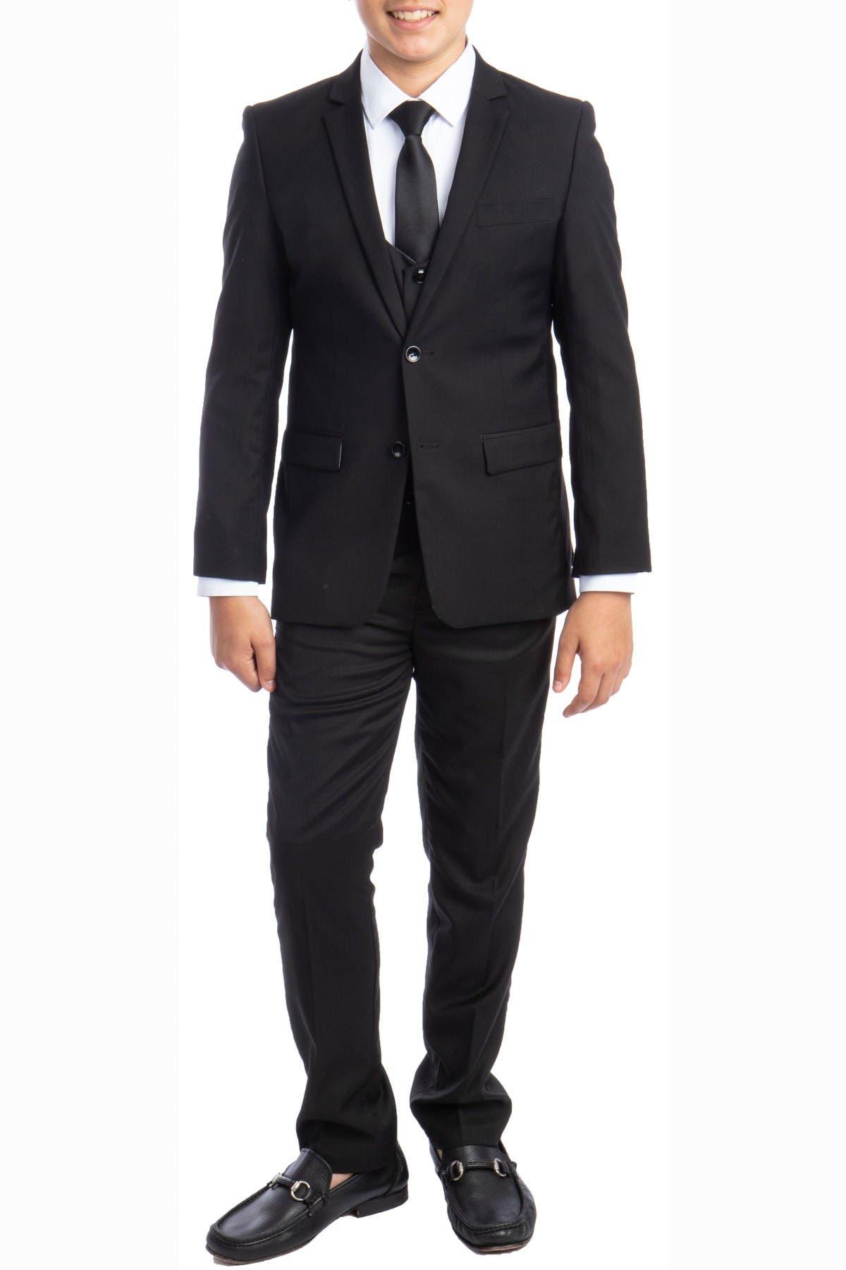 Image of Perry Ellis Portfolio Solid 5-Piece Suit