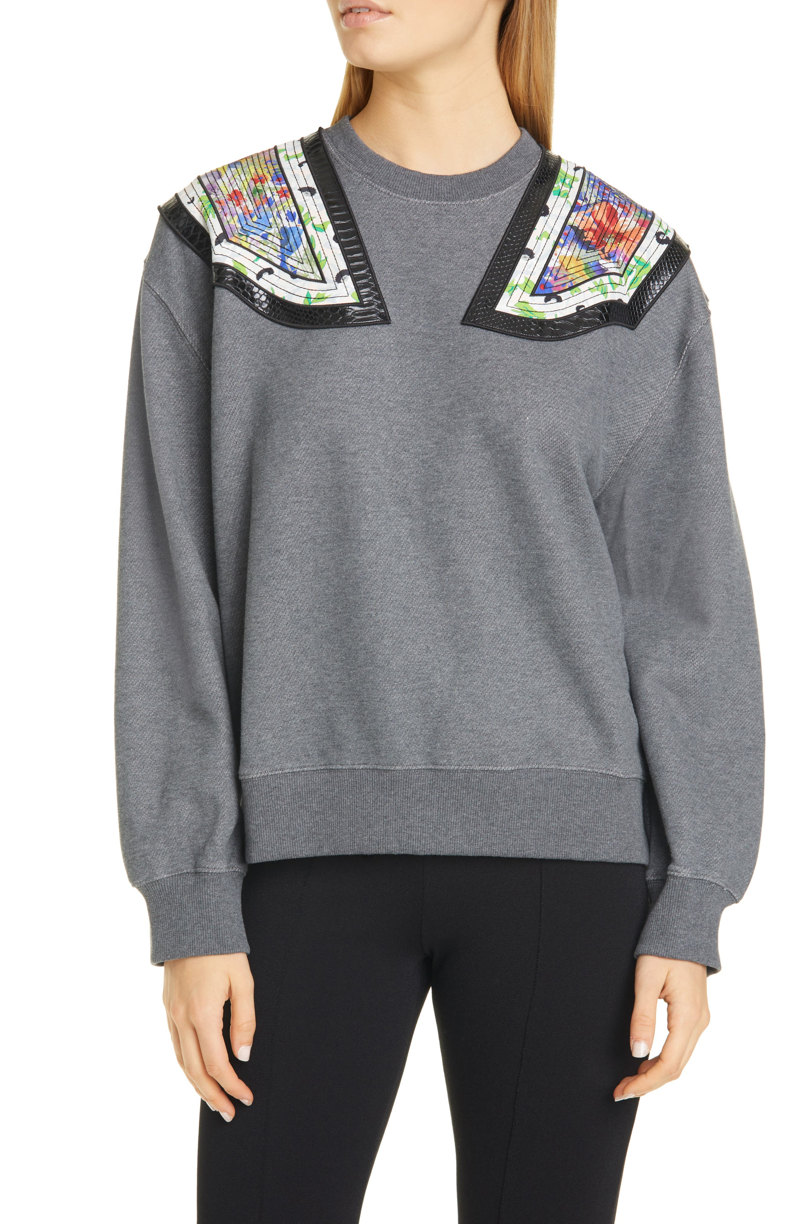 Stella Mccartney Shirts Shoulder Appliqué Sweatshirt