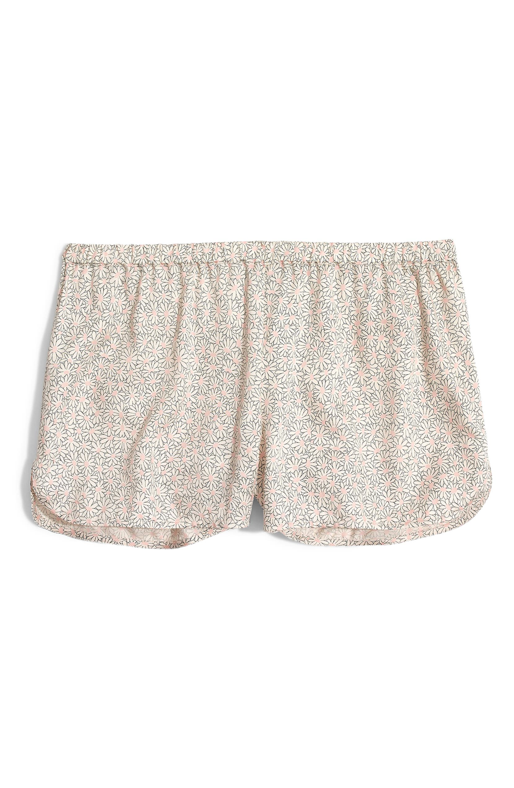 d2cf23a3dca Madewell Daisy Patch Satin Pajama Shorts