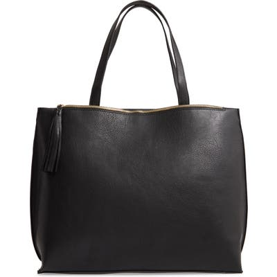 Sole Society Faux Leather Tote - Black