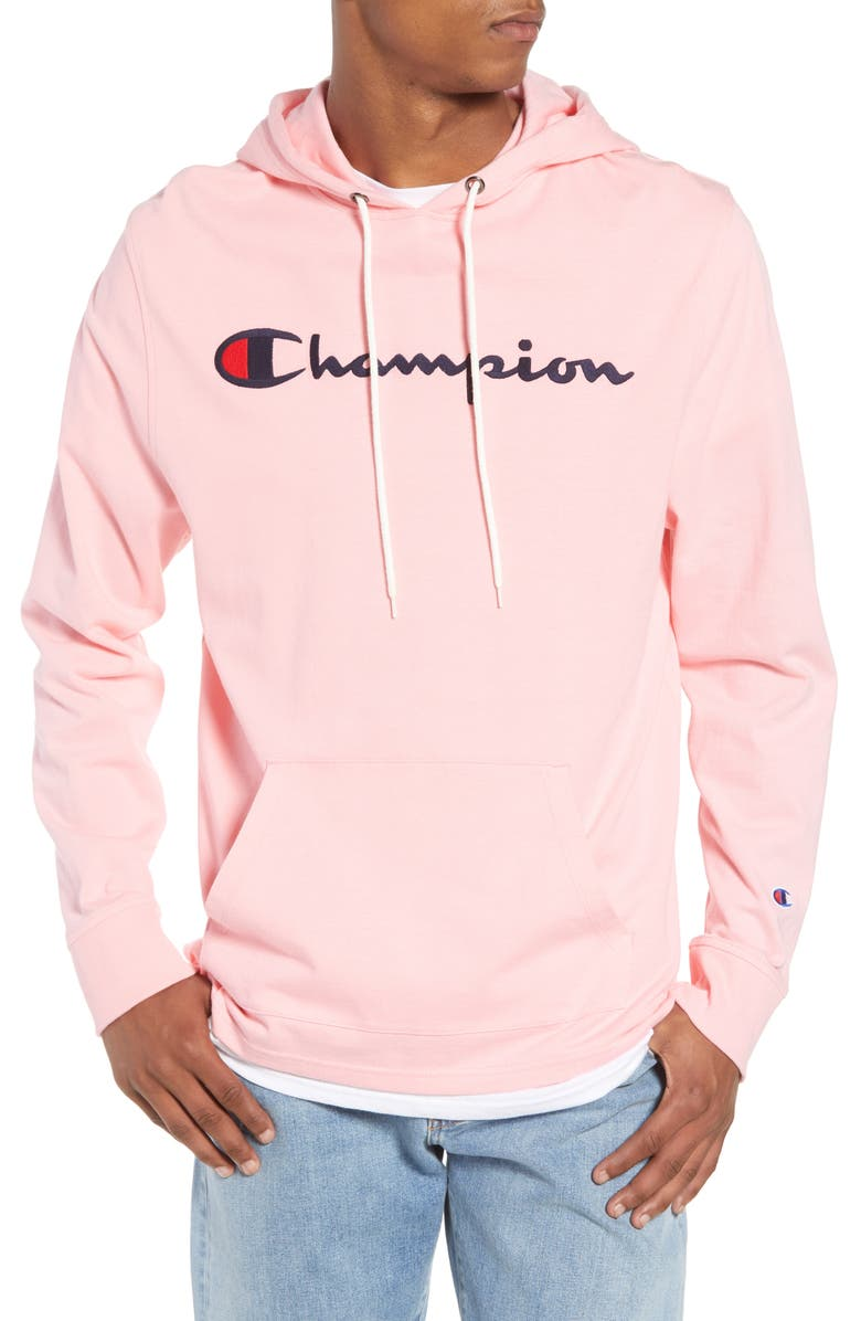 CHAMPION Embroidered Logo Hoodie, Main, color, 660