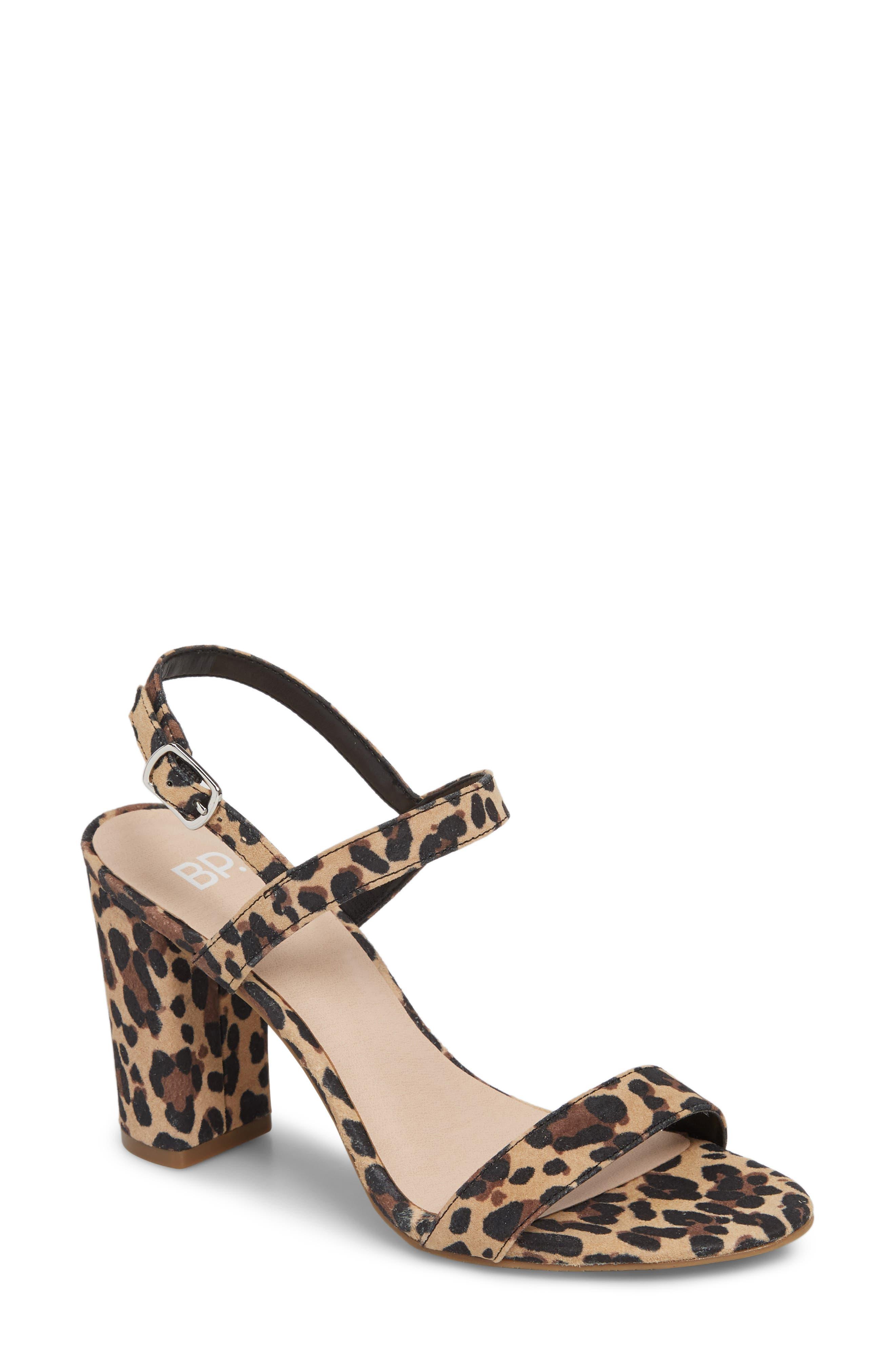 Lula Block Heel Slingback Sandal, Main, color, LEOPARD PRINT LEATHER