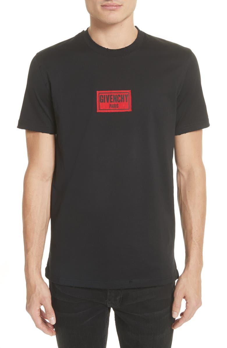 GIVENCHY Boxing Logo T-Shirt, Main, color, 001