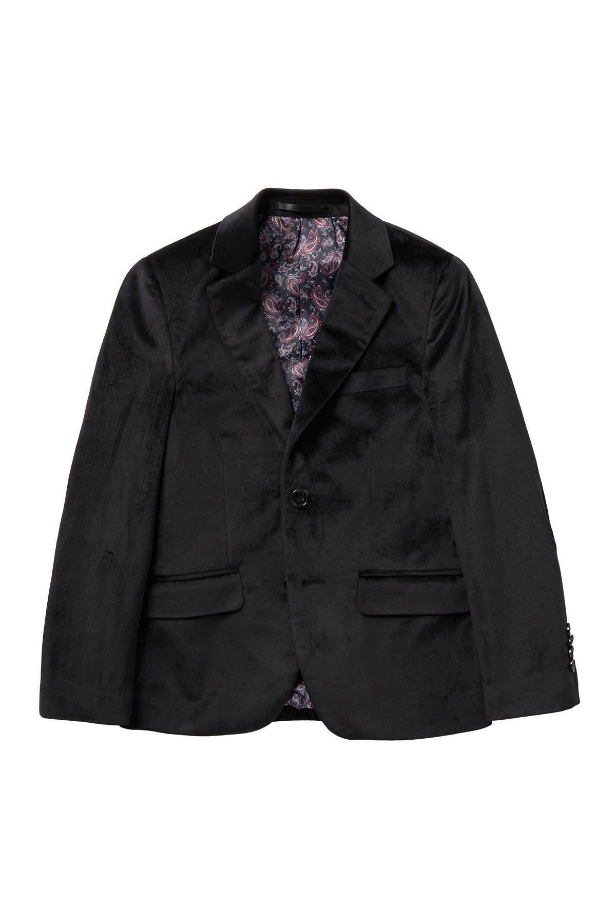 Image of Isaac Mizrahi Classic Two-Button Velvet Blazer