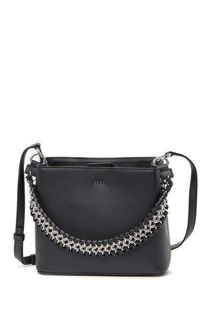 Image of DKNY Bethune Small Leather Bucket Bag