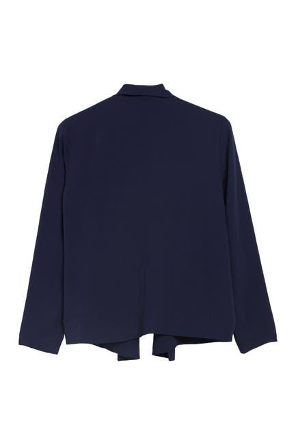 Image of Eileen Fisher Shawl Lapel Silk Jacket