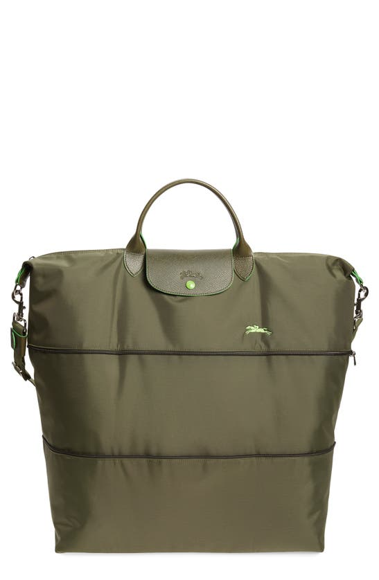 Longchamp Le Pliage Club Expandable Large Nylon Travel Bag In Fir