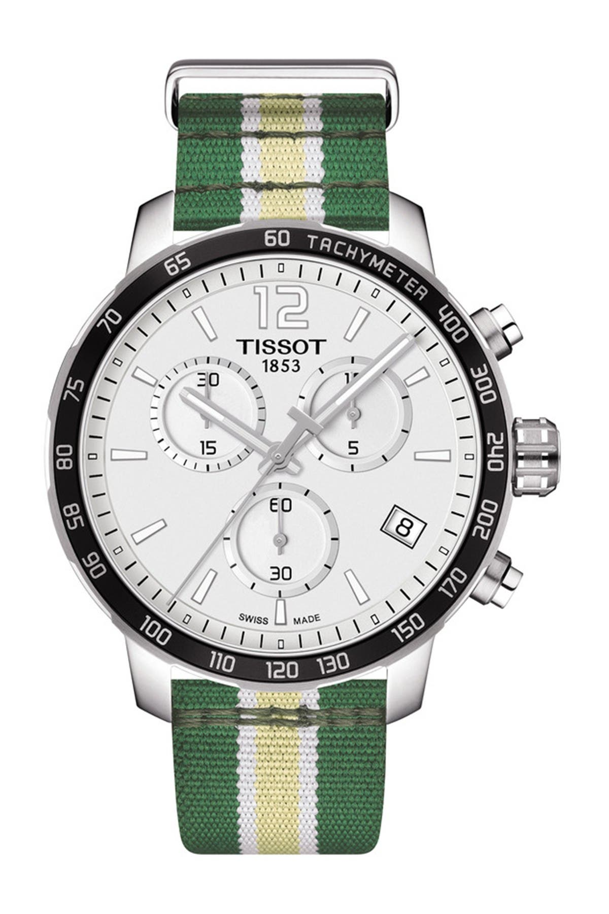 Image of Tissot Men's Quickster Chronograph NBA Milwaukee Bucks Watch, 42mm