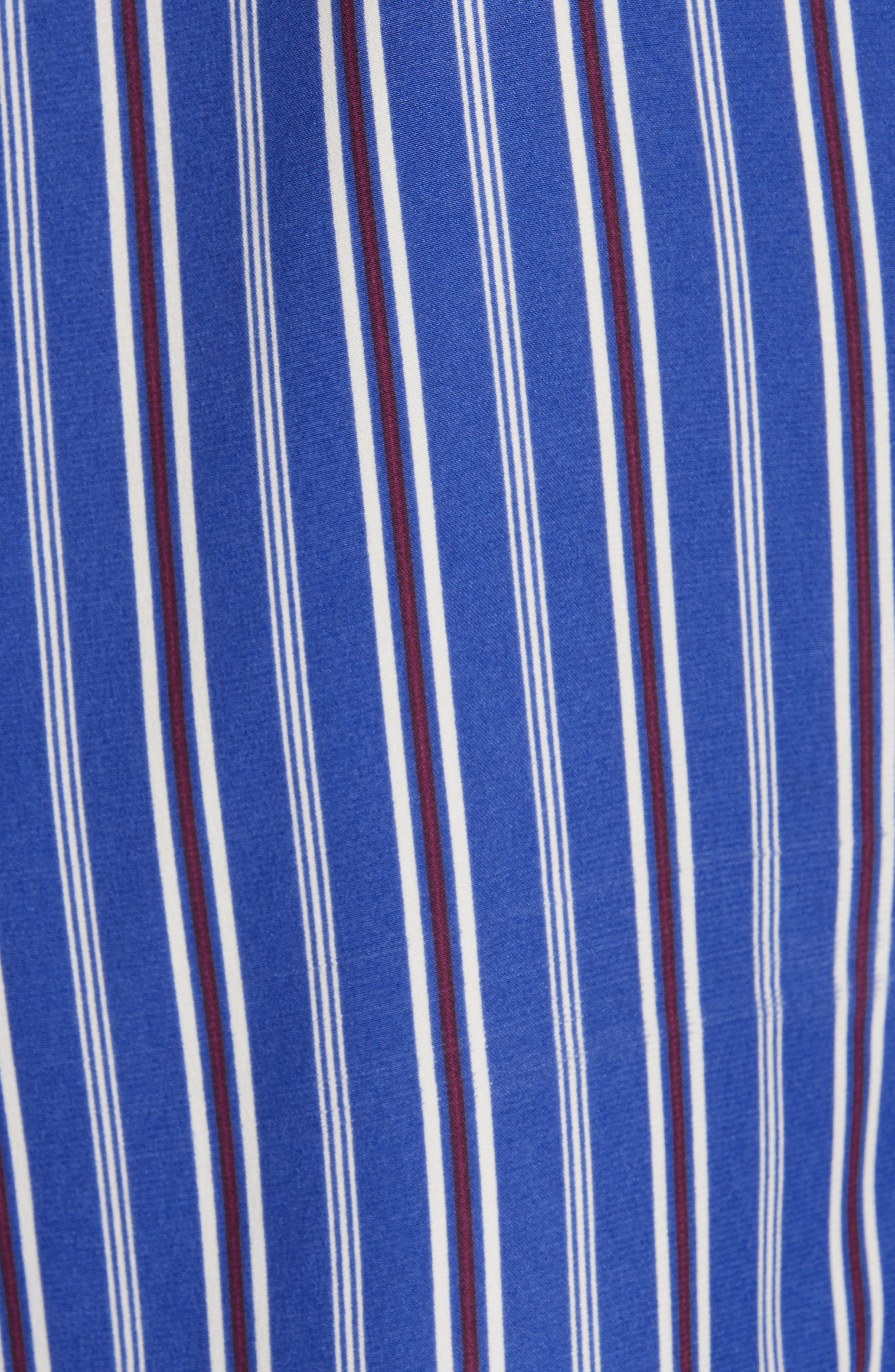 ,                             Felix Stripe Silk Wrap Top,                             Alternate thumbnail 5, color,                             BLUE MULTI