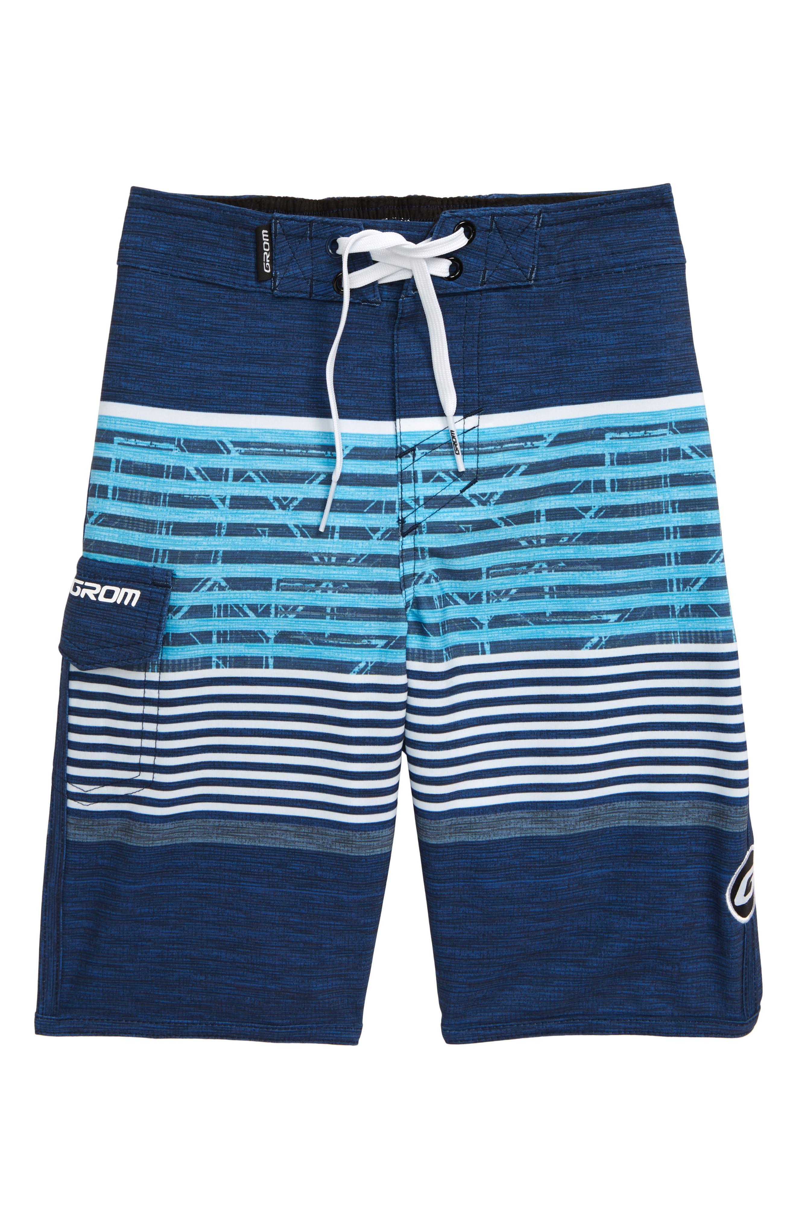 Boys Grom Breaker Board Shorts Size S (67)  Blue