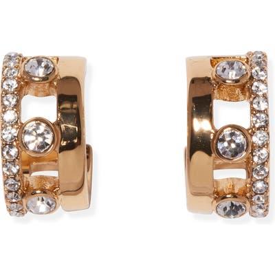 Vince Camuto Crystal Huggie Hoop Earrings