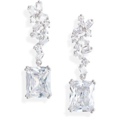 Nordstrom Emerald Drop Cluster Earrings