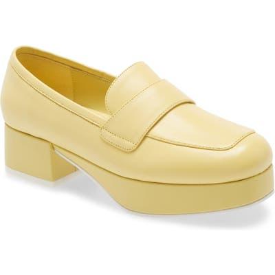 Jeffrey Campbell Student Platform Loafer, Yellow