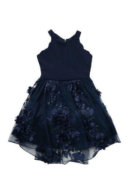 Image of Trixxi Navy Petal Dress