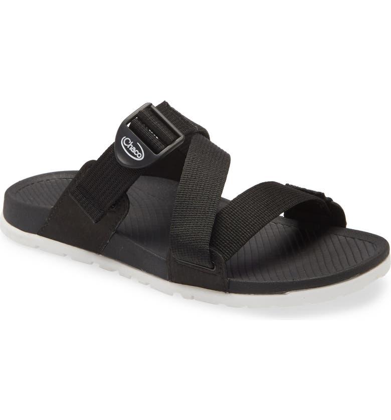 CHACO Lowdown Slide Sandal, Main, color, BLACK FABRIC
