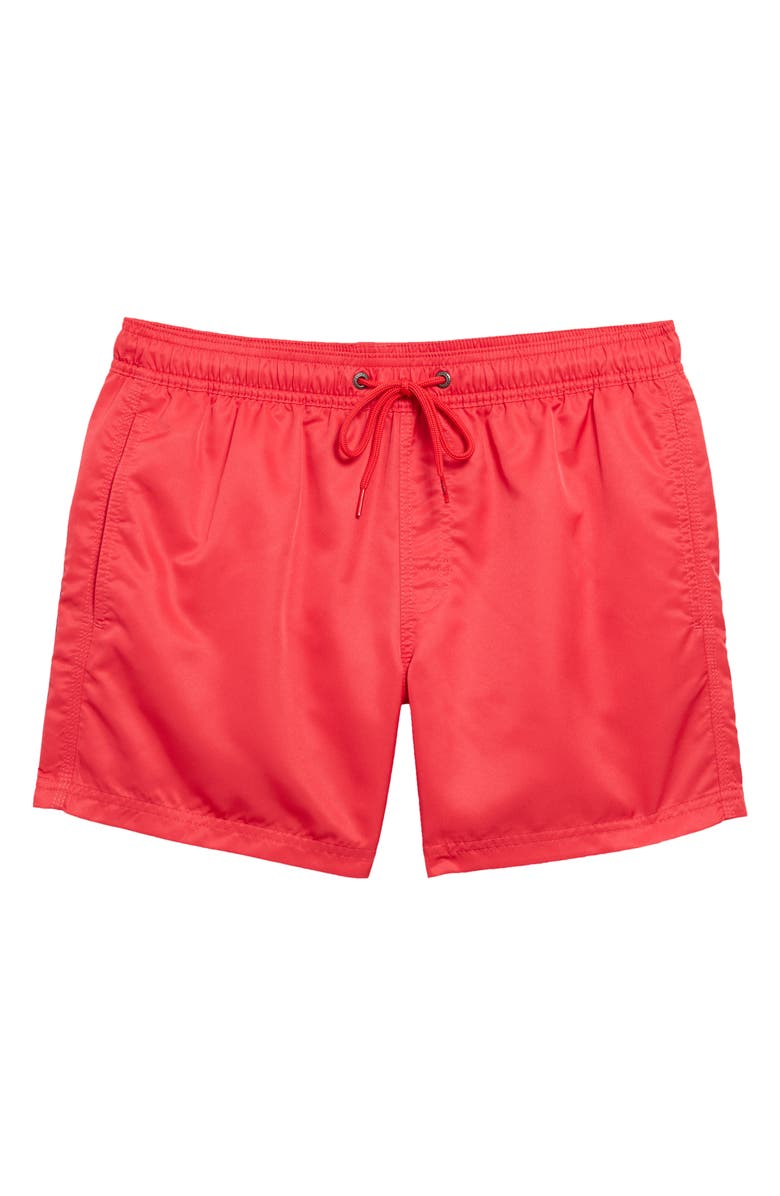 SUNDEK Repreve Elastic Waist Swim Shorts, Main, color, WATERMELON