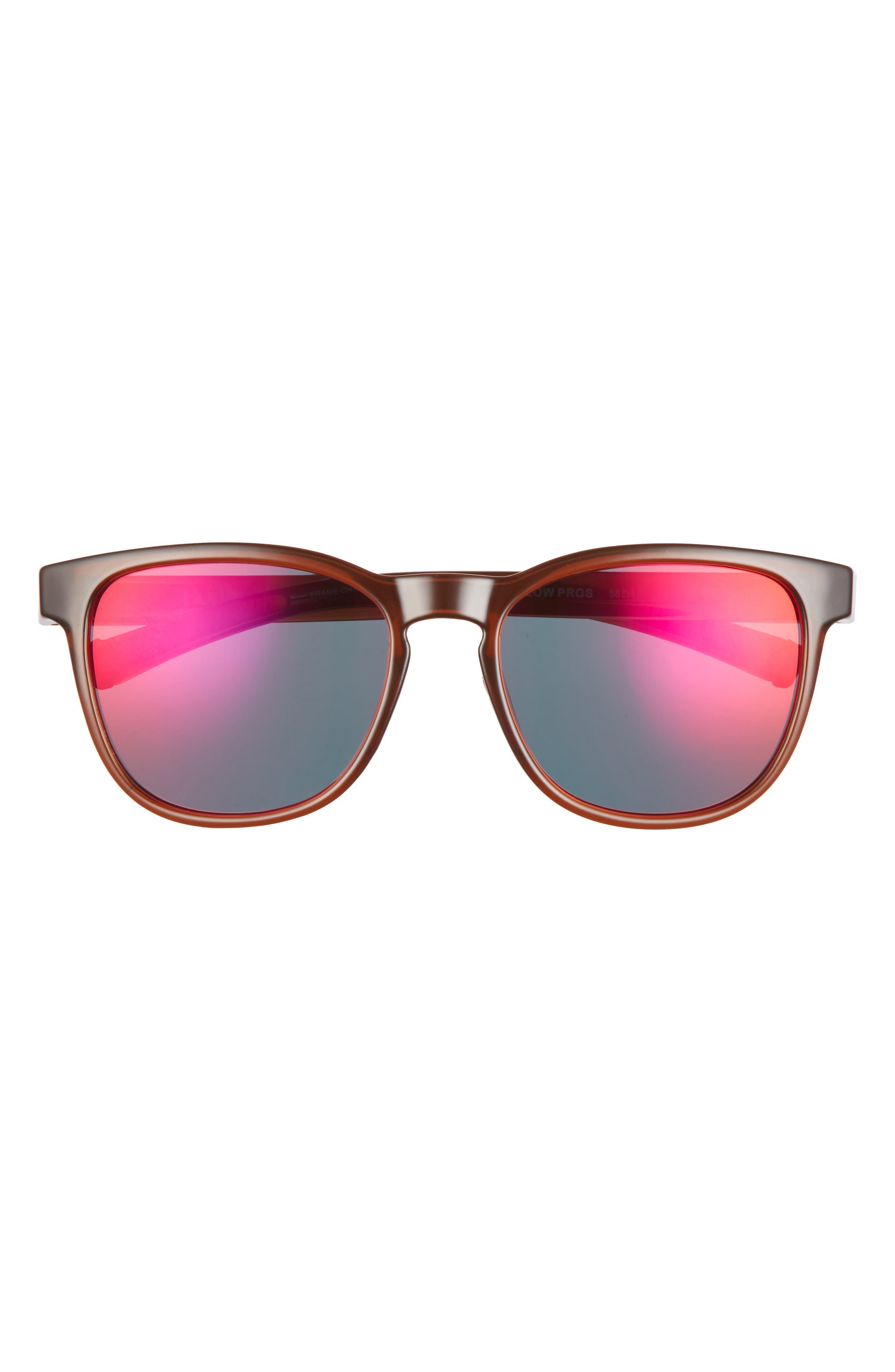 Low Pros 56mm Polarized Round Sunglasses