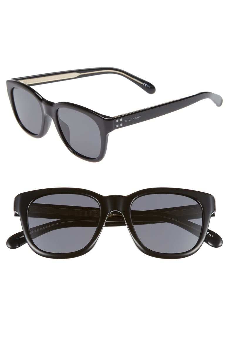 GIVENCHY 51mm Sunglasses, Main, color, BLACK