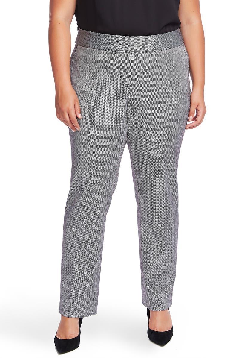 VINCE CAMUTO Herringbone Ankle Pants, Main, color, 060