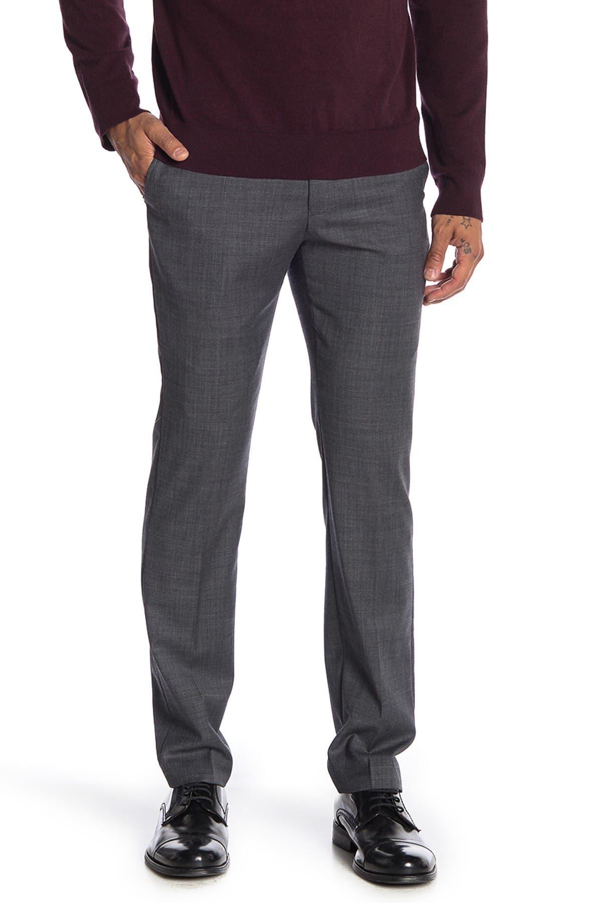 "Image of Original Penguin Charcoal Solid Trim Fit Suit Separates Trousers - 30-34"" Inseam"