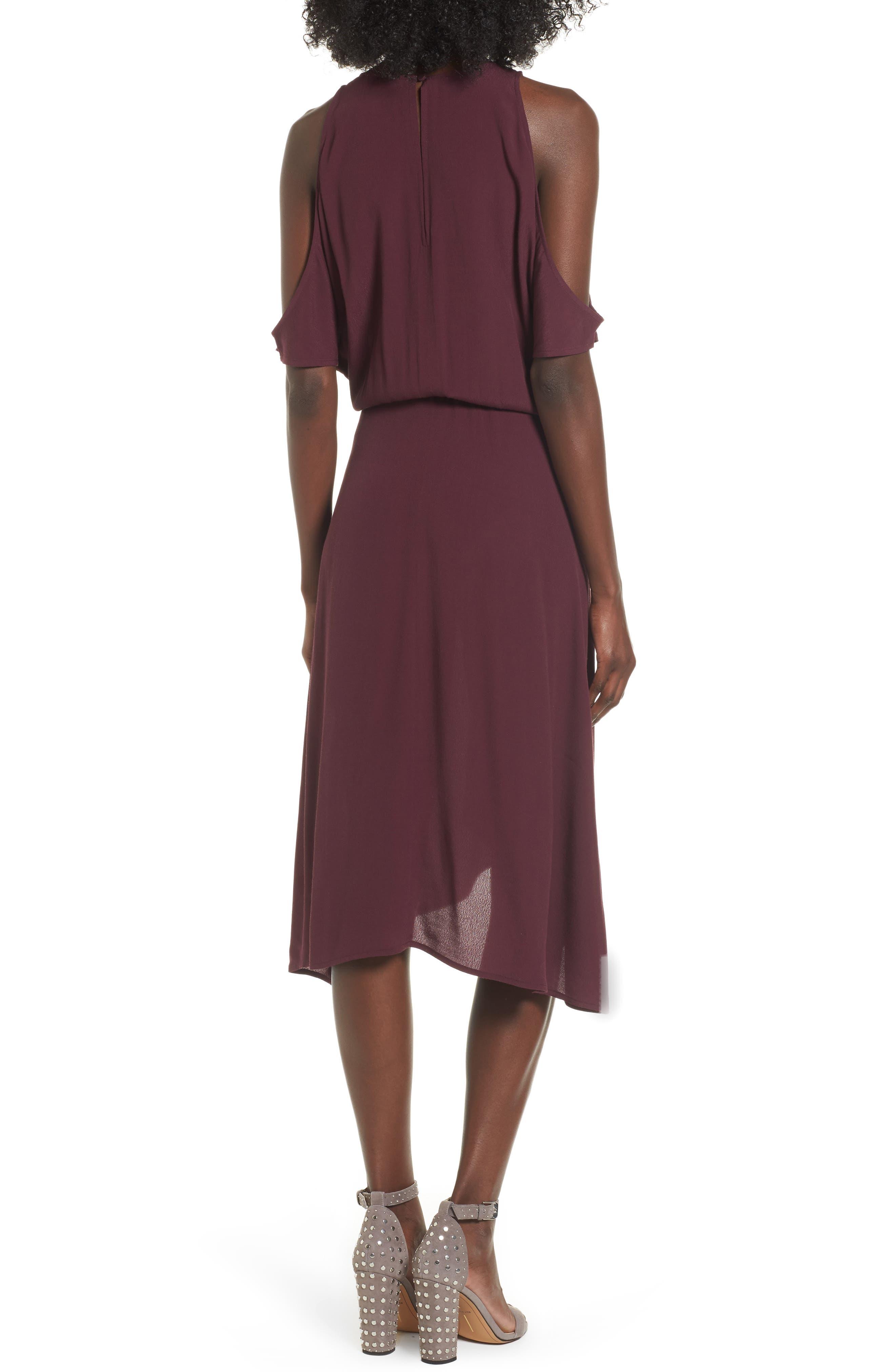,                             Cold Shoulder Midi Dress,                             Alternate thumbnail 15, color,                             930