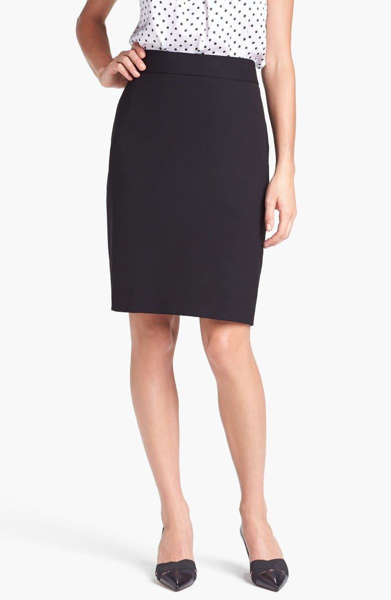 JONES NEW YORK 'Lucy - Seasonless Stretch' Pencil Skirt, Main, color, 001