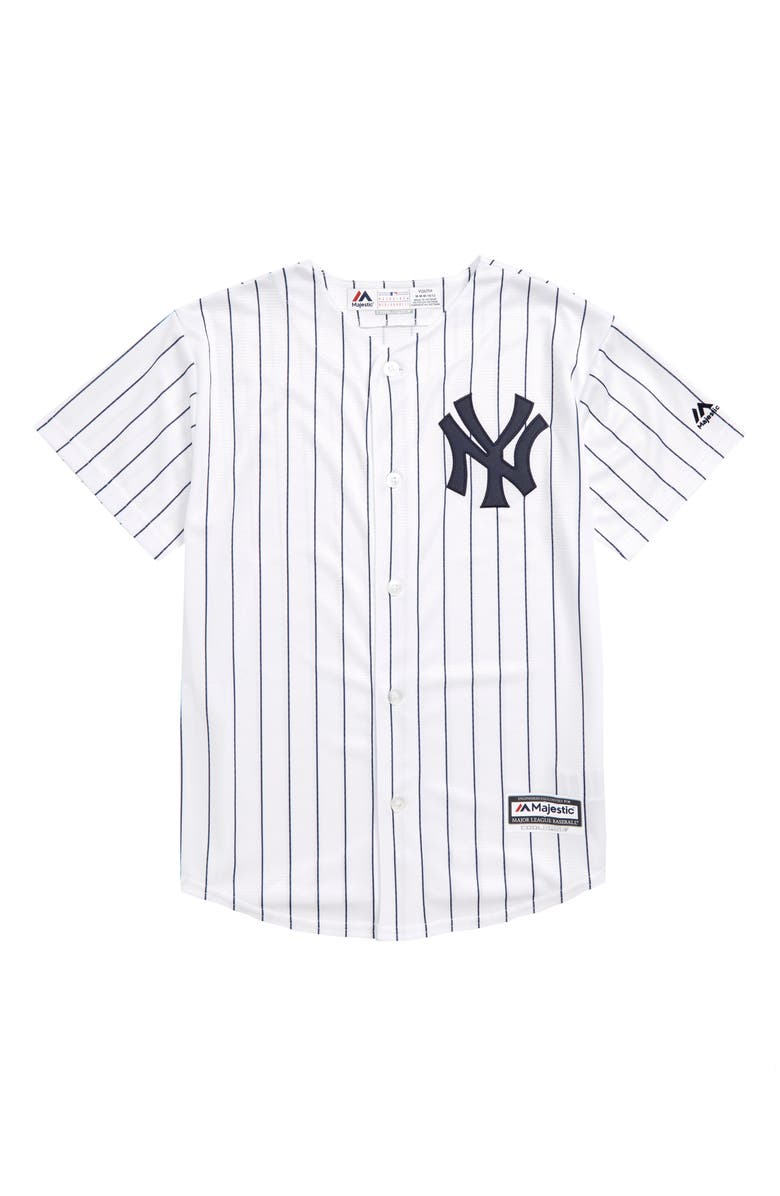 the best attitude 6bc6f b4ad0 Majestic MLB New York Yankees Home Replica Baseball Jersey ...