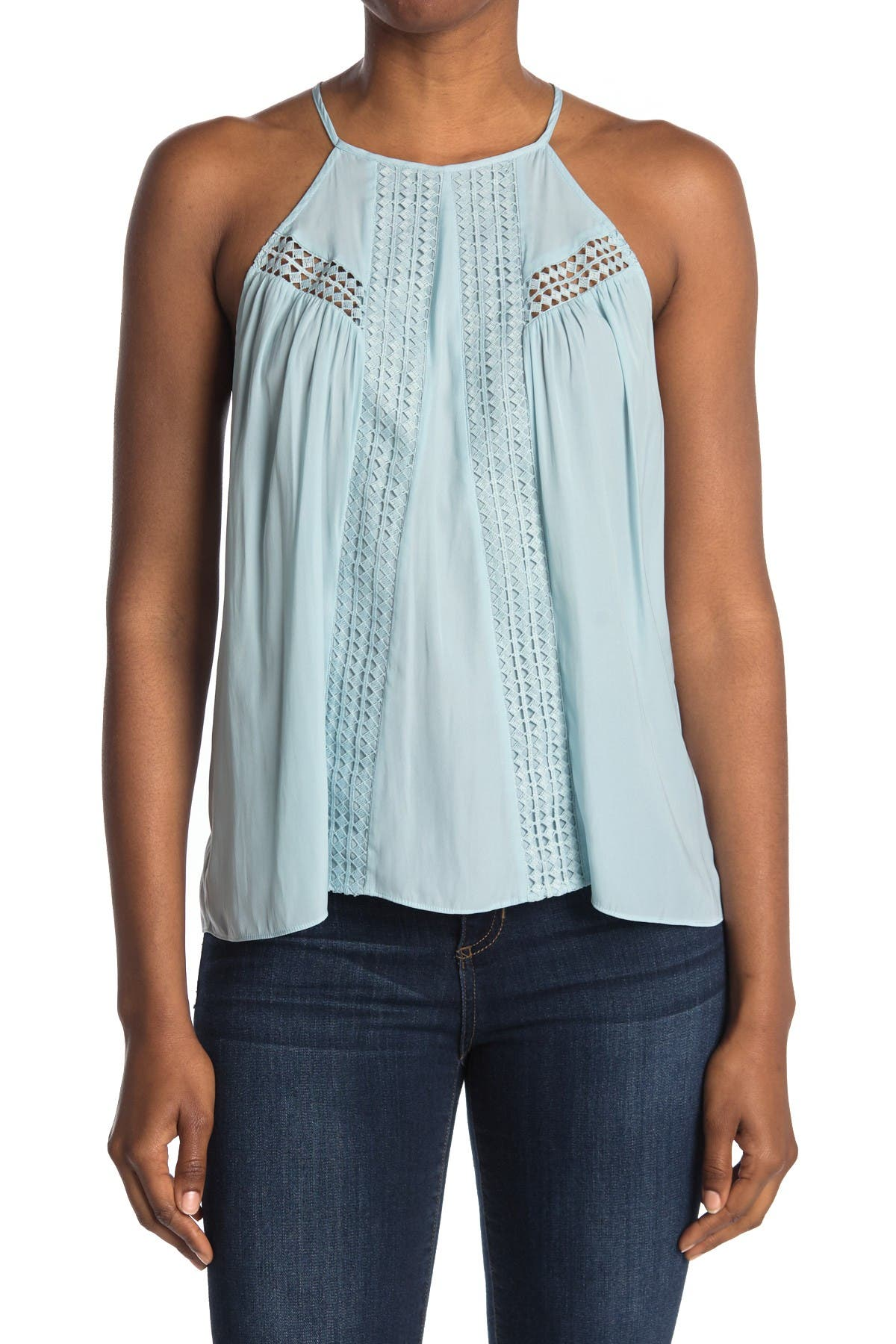 Image of Ramy Brook June Halter Eyelet Top