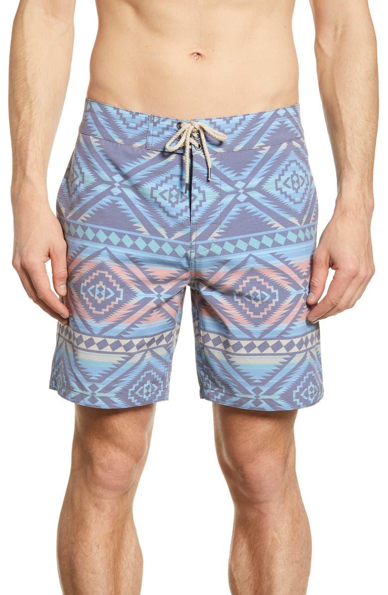 FAHERTY Classic Board Shorts, Main, color, ALEUTIAN COAST